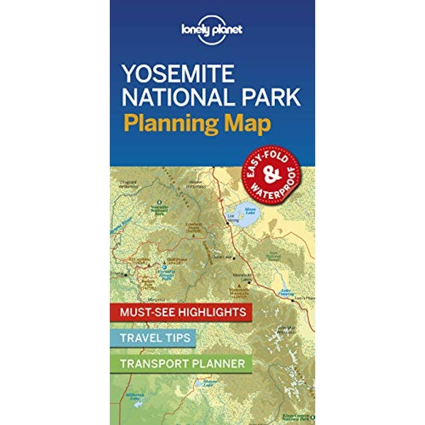 Lonely Planet Yosemite National Park Planning Map  Sheet map, folded 2019