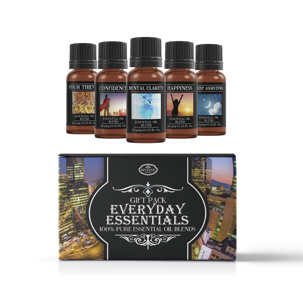Mystic Moments Everyday Essentials Essential Oils Blend Gift Pack