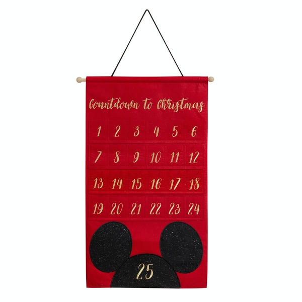 Disney Gold Embroidered Mickey Mouse Fabric Advent Calendar
