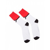 Pokemon Pokeball Trainer Crew Socks- 43/46 - Red & White