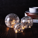 Fairy Light Crackle Glass Orbs - Set of 3 | M&W - Image 2
