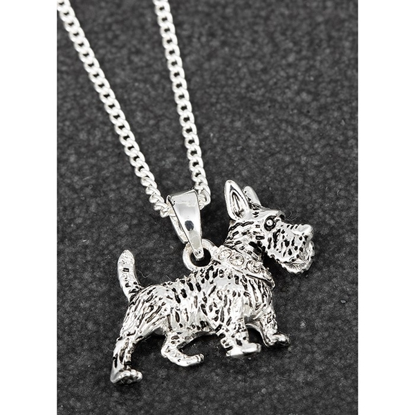 Westie Silver Plated Necklace