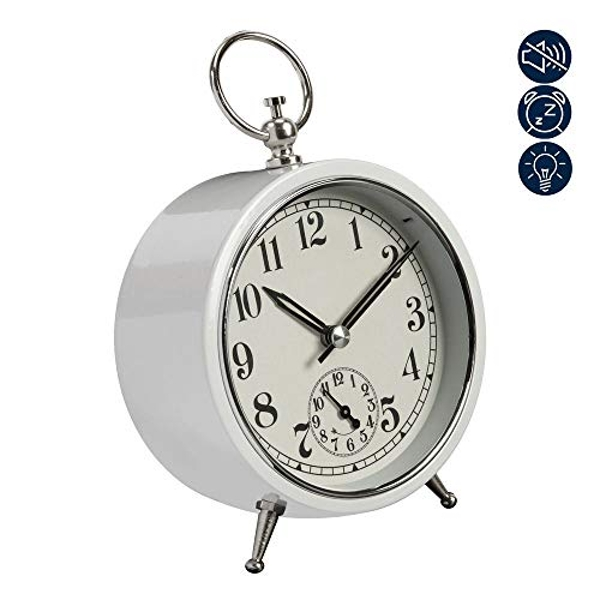 Retro Alarm Clock Sweep Movement - White