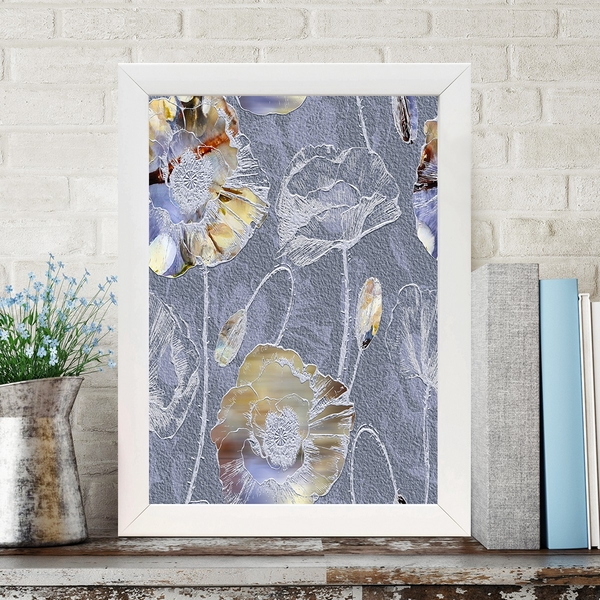 BC1061853800 Multicolor Decorative Framed MDF Painting