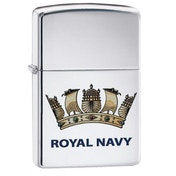 Zippo Royal Navy Official Crest High Polish Chrome Finish Windproof Lighter