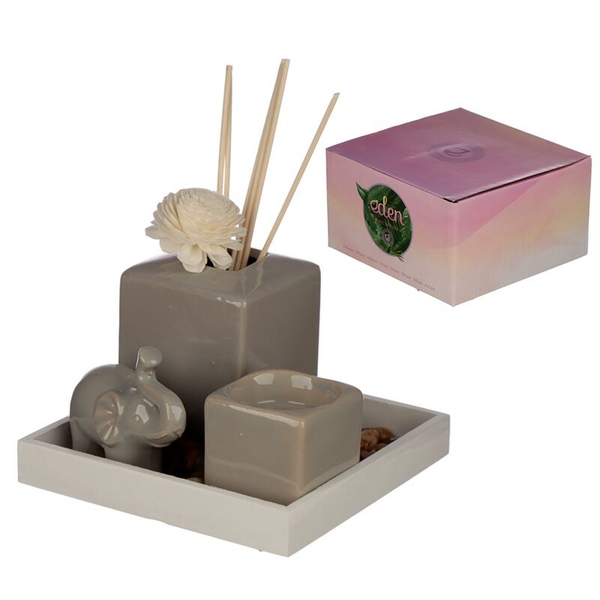 Elephant Reed Diffuser & Candle Holder Eden Aroma Set