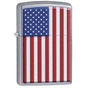 Zippo Patriotic Street Chrome Windproof Lighter