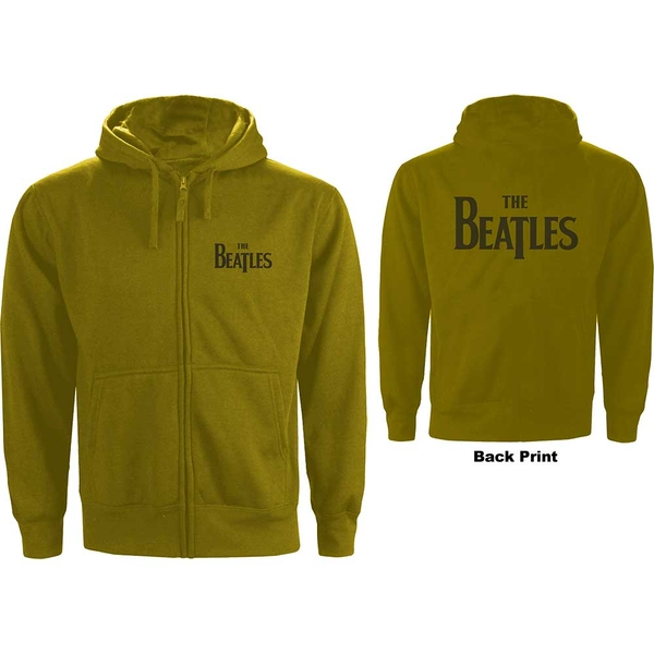 The Beatles - Drop T Logo Men's XX-Large Zipped Hoodie - Green