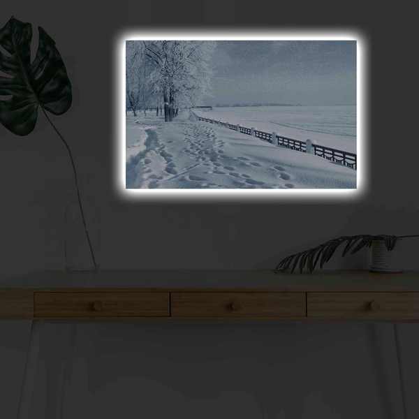 4570KARDACT - 028 Multicolor Decorative Led Lighted Canvas Painting