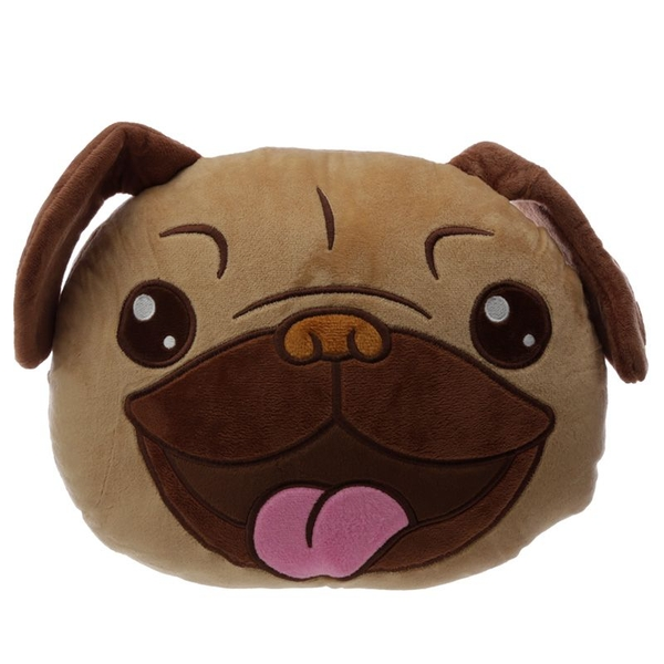 Pug Mopps Plush Cushion