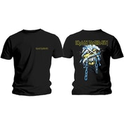 Iron Maiden - Powerslave Head & Logo Men's Large T-Shirt - Black