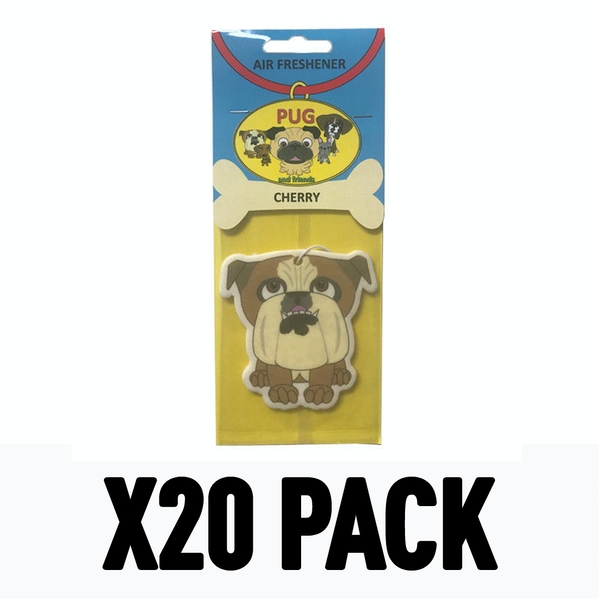 British Bulldog Cherry (Pack Of 20) Air Freshener