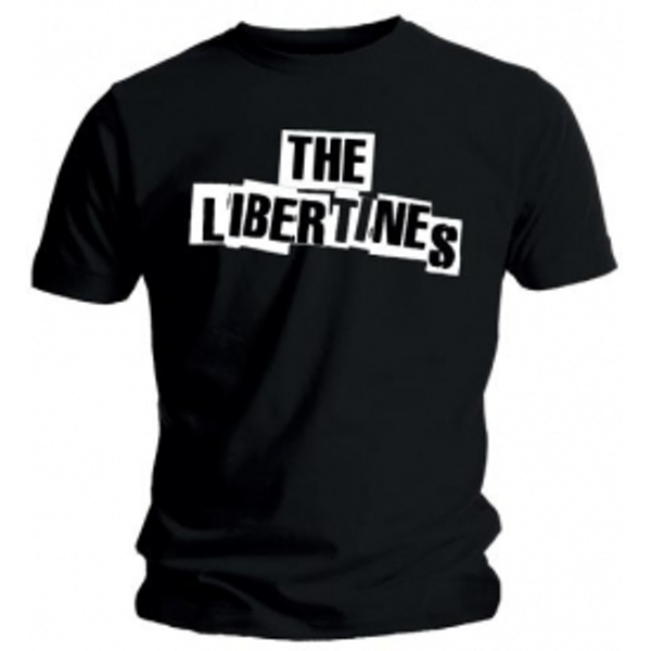 The Libertines Logo Mens Black T Shirt: Large