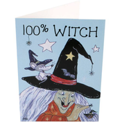 Pack of 6 100% Witch Smiley Cards