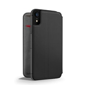 Twelve South SurfacePad for iPhone XR Slim luxury leather folio with card slots (black)