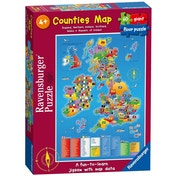 Counties Map United Kingdom Giant Floor 60 Piece Jigsaw Puzzle