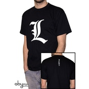 Death Note - L Tribute Men's Small T-Shirt - Black