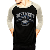 Dc Originals - Gotham Basketball Men's Small Baseball T-Shirt - Black