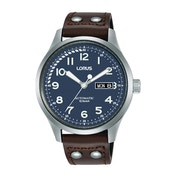 Lorus RL463AX9 Mens Blue Dial Automatic Watch with Brown Leather Strap