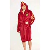 Quidditch Harry Potter Mens Burgandy Fleece Robe with Hood