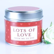 Lots Of Love (Sentiment Collection) Tin Candle