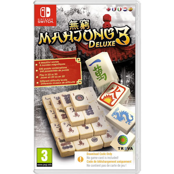 Mahjong Deluxe 3 Nintendo Switch Game [Code in a Box]