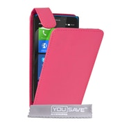 YouSave Nokia XL Leather Effect Flip - Pink