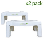 X2 Folding Squatting Toilet Stool | Non-Slip Bathroom Aid | Helps To Relieve Piles, Constipation & Bloating | Medically Tested & Proven To Aid Bowel Movements | Natural Posture For Healthier Results M&W