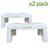 X2 Folding Squatting Toilet Stool | Non-Slip Bathroom Aid | Helps To Relieve Piles, Constipation & Bloating | Medically Tested & Proven To Aid Bowel Movements | Natural Posture For He