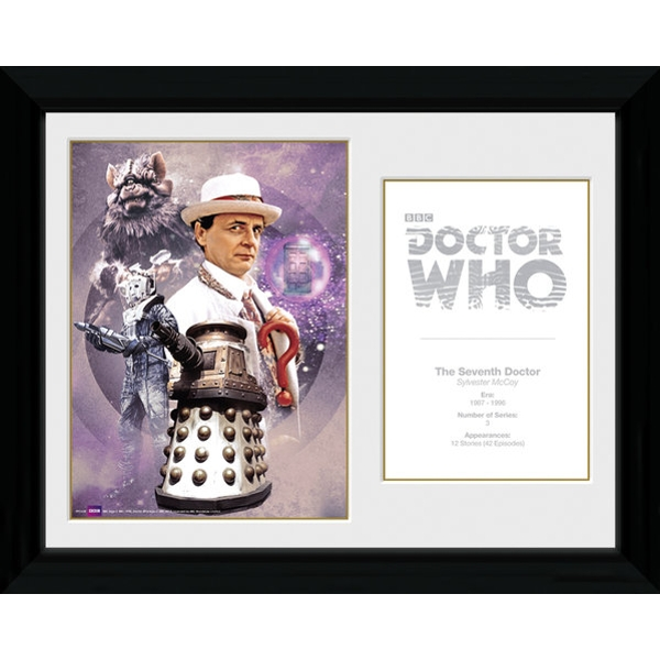Doctor Who 7th Doctor Sylvester McCoy Framed Photographic Print