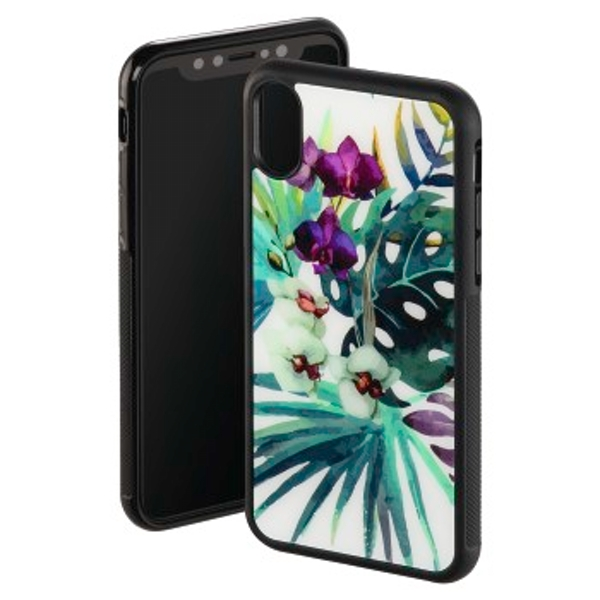 """Hama """"Orchid"""" Cover for Apple iPhone X, white/colourful"""