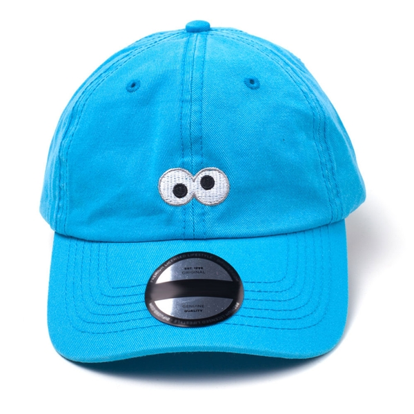 Sesame Street - Cookie Monster Embroidered Eyes Unisex Adjuster Fitting Strap Cap - Blue