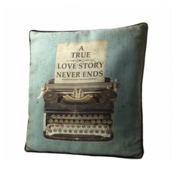A True Love Story Cushion By Heaven Sends
