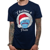 Rick And Morty - Christmas Is Pain Men's Medium T-shirt - Blue