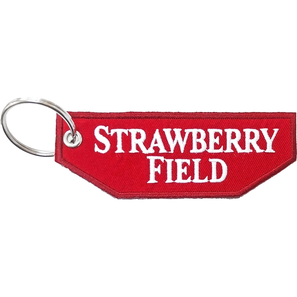 Road Sign - Strawberry Field Keychain