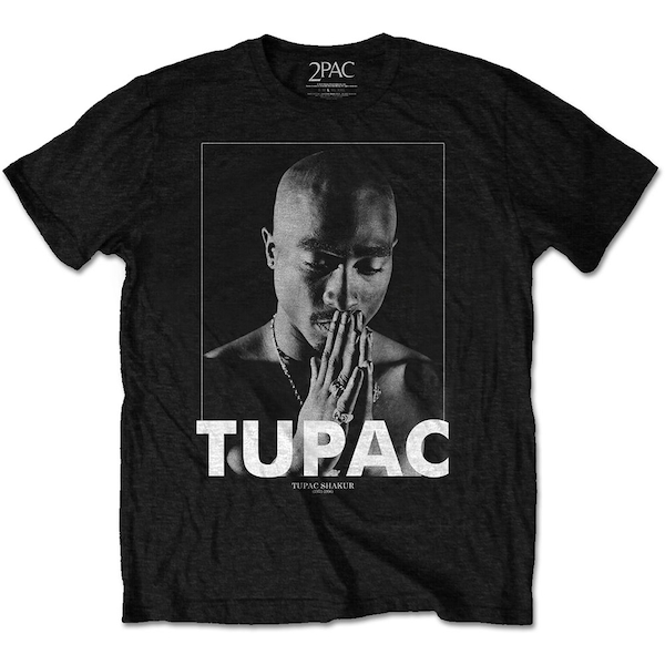 Tupac - Praying Men's X-Large T-Shirt - Black