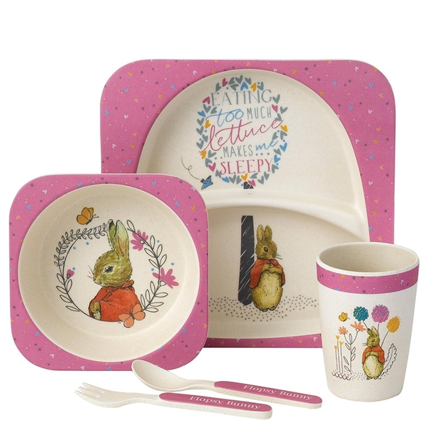 Flopsy Rabbit Organic Border Fine Arts Dinner Set