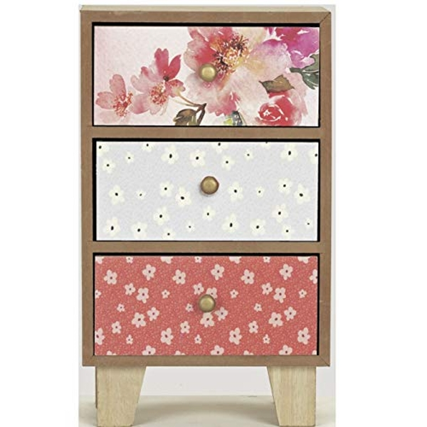 Patterned Set of 3 Mini Drawers