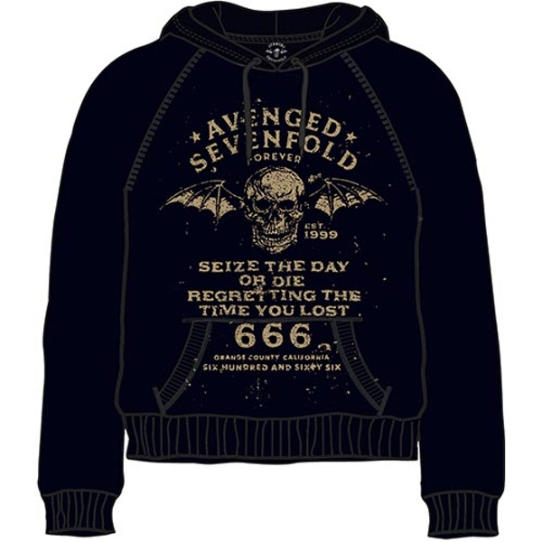 Avenged Sevenfold - Seize the Day Unisex Small Pullover Hoodie - Black