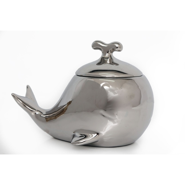 Ceramic Whale Trinket Pot