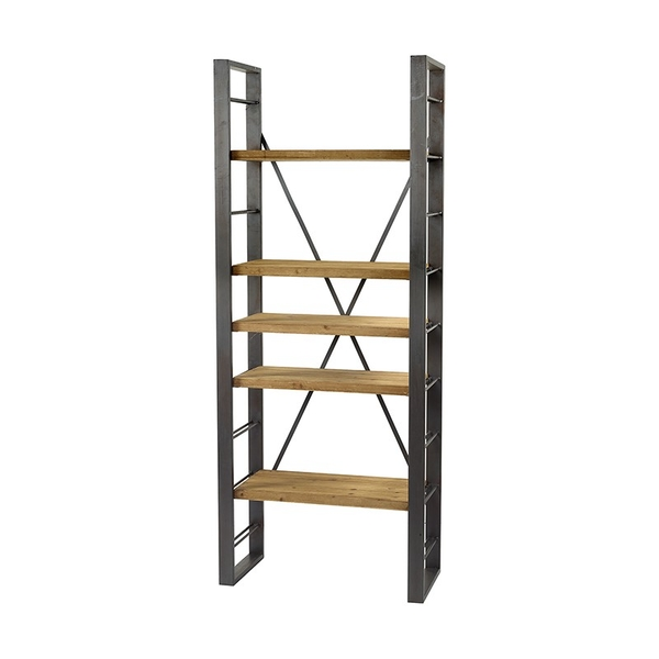 Small Wooden & Iron Shelf Kd Dpacked By Heaven Sends