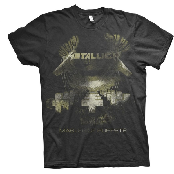 Metallica - Master of Puppets Distressed Unisex Large T-Shirt - Black