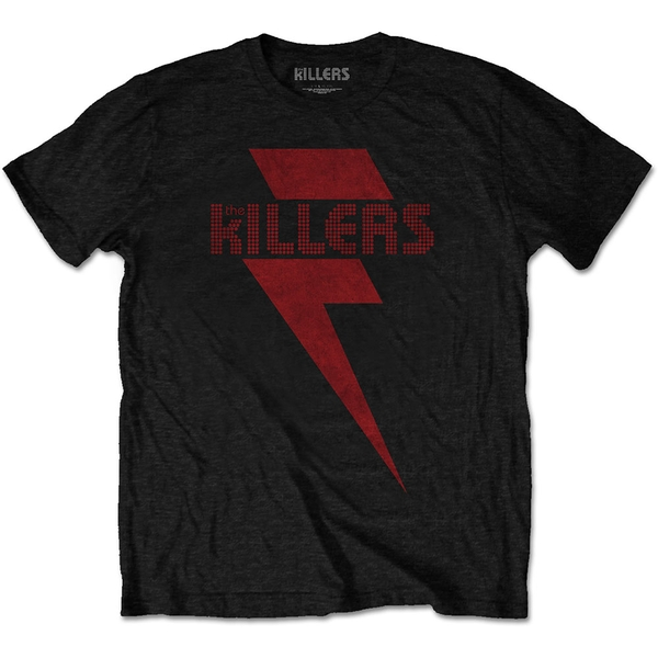 The Killers - Red Bolt Unisex XX-Large T-Shirt - Black