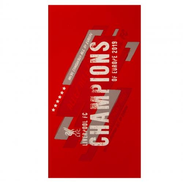Liverpool FC Champions of Europe Towel