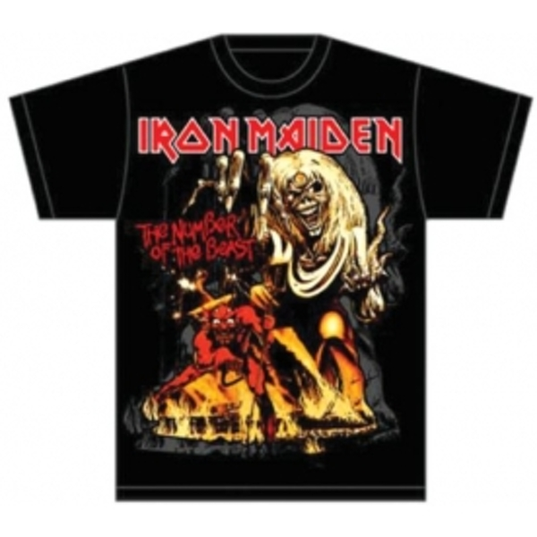 Iron Maiden Number of the Beast Graphic Mens TS: Medium