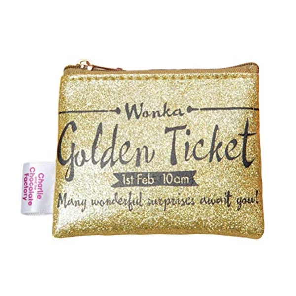 Charlie & The Chocolate Factory Golden Ticket Coin Purse