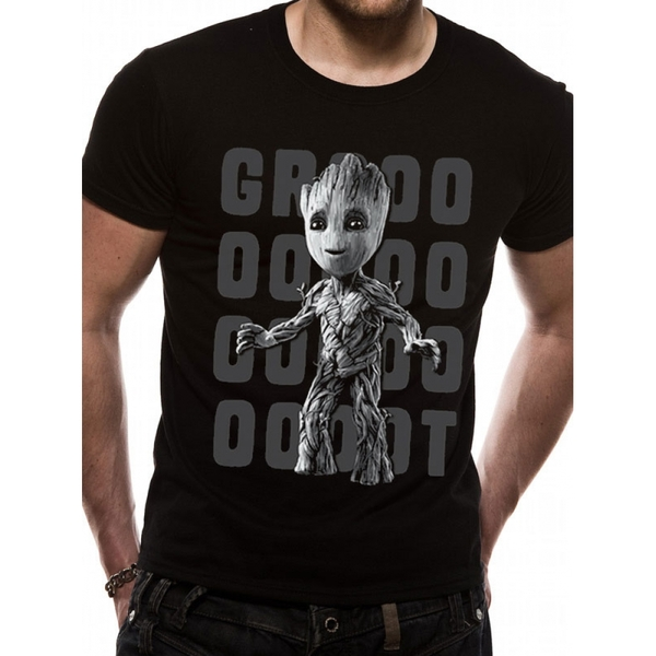 72fd944325a Guardians Of The Galaxy 2 - Groot Photo Men s Small T-Shirt - Black ...
