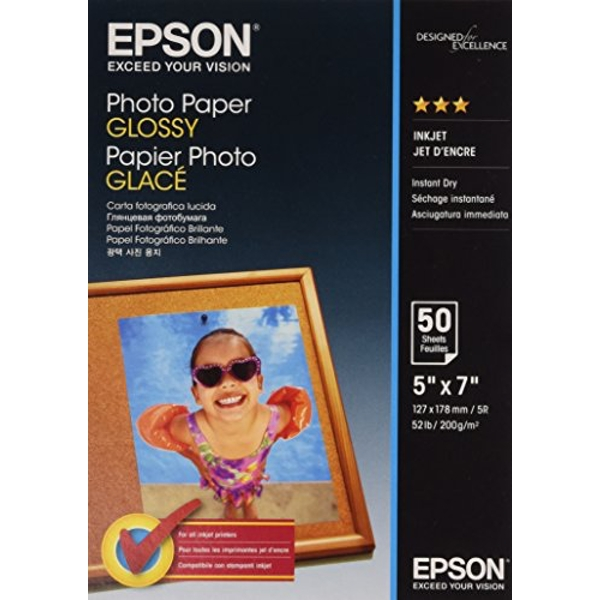 Epson C13S042545 13 x 18 cm Glossy Photo Paper (Pack of 50)