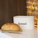 Kitchen Bread Bin with Bamboo Chopping Board Lid | M&W - Image 2