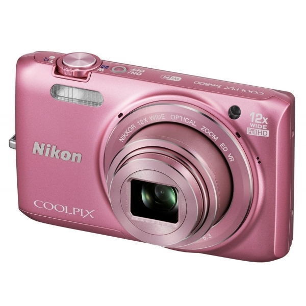 Nikon Coolpix S6800 Camera Pink 16.0MP 12xZoom 3.0LCD FHD 25mm Wide Lens